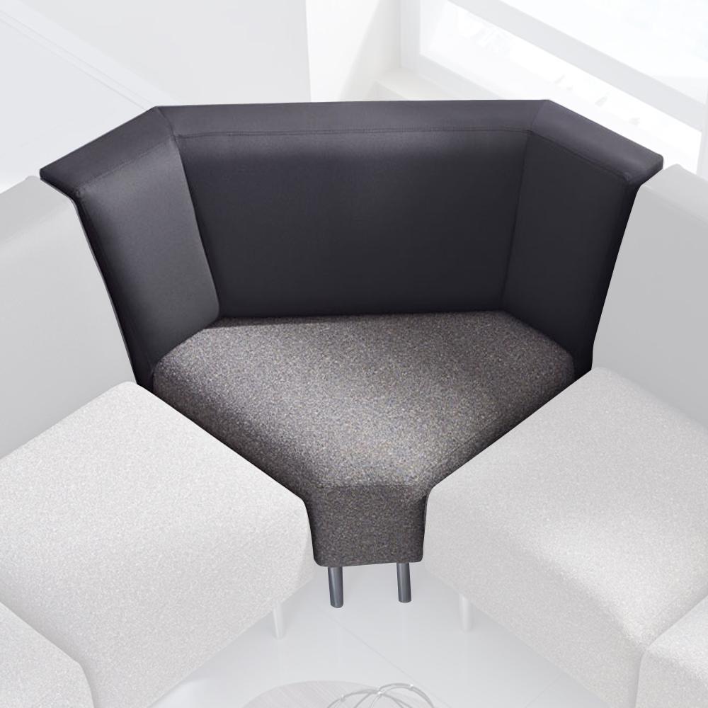HPFI® Eve Lounge Seating - 90° Seat, Fabric