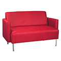 HPFI® Eve Lounge Seating -Arm Loveseat, Leather