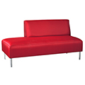 HPFI® Eve Lounge Seating - 2/3 Back Right Armless Sofa, Leather