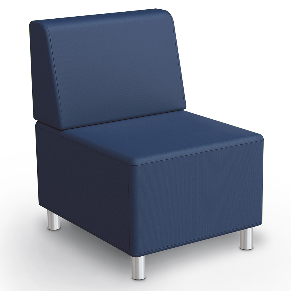 MooreCo® Modular Soft Seating Collection - Armless Chair, Faux Leather