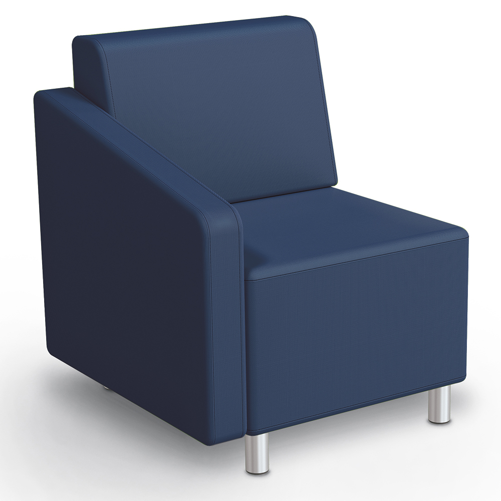 MooreCo® Modular Soft Seating Collection - Right Arm Chair, Faux Leather