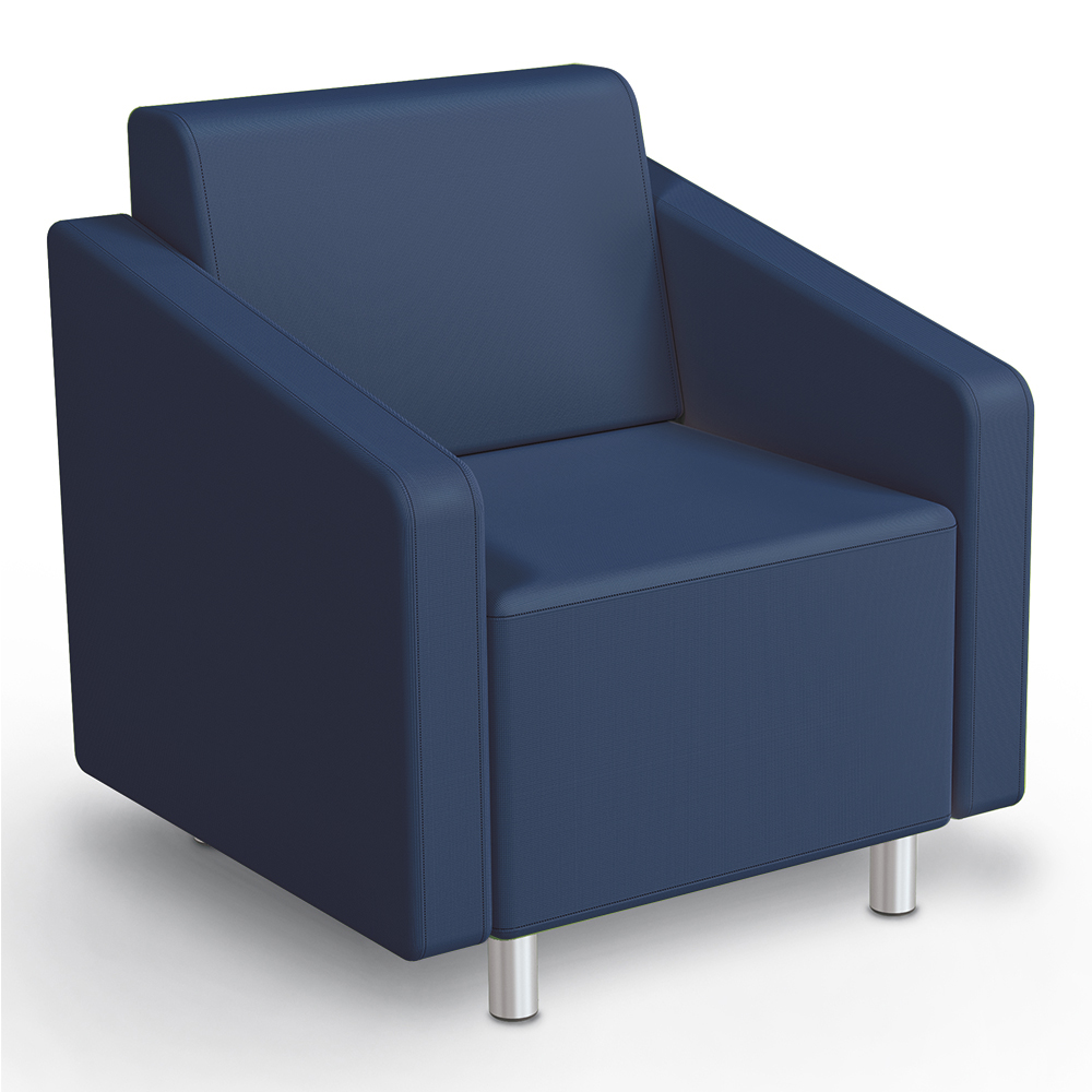 MooreCo® Modular Soft Seating Collection - Arm Chair, Faux Leather
