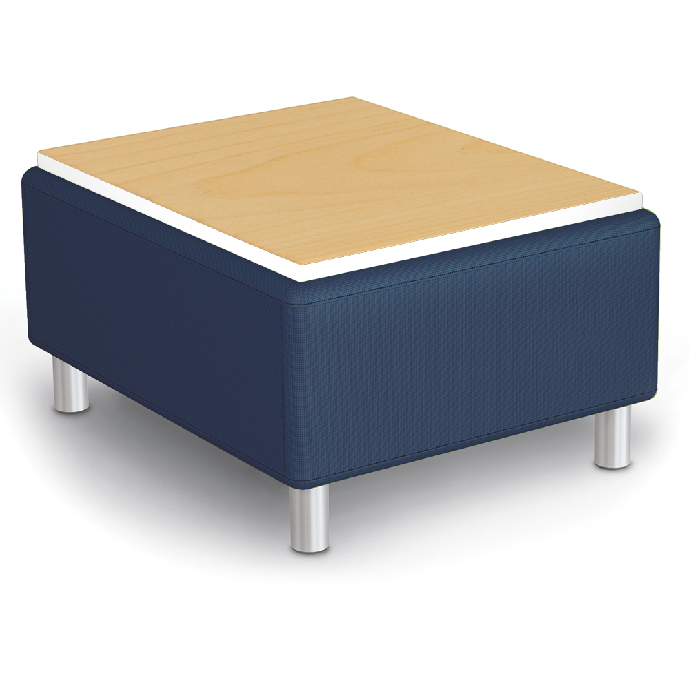 MooreCo® Modular Soft Seating Collection - Bench with Laminate Top, Faux Leather