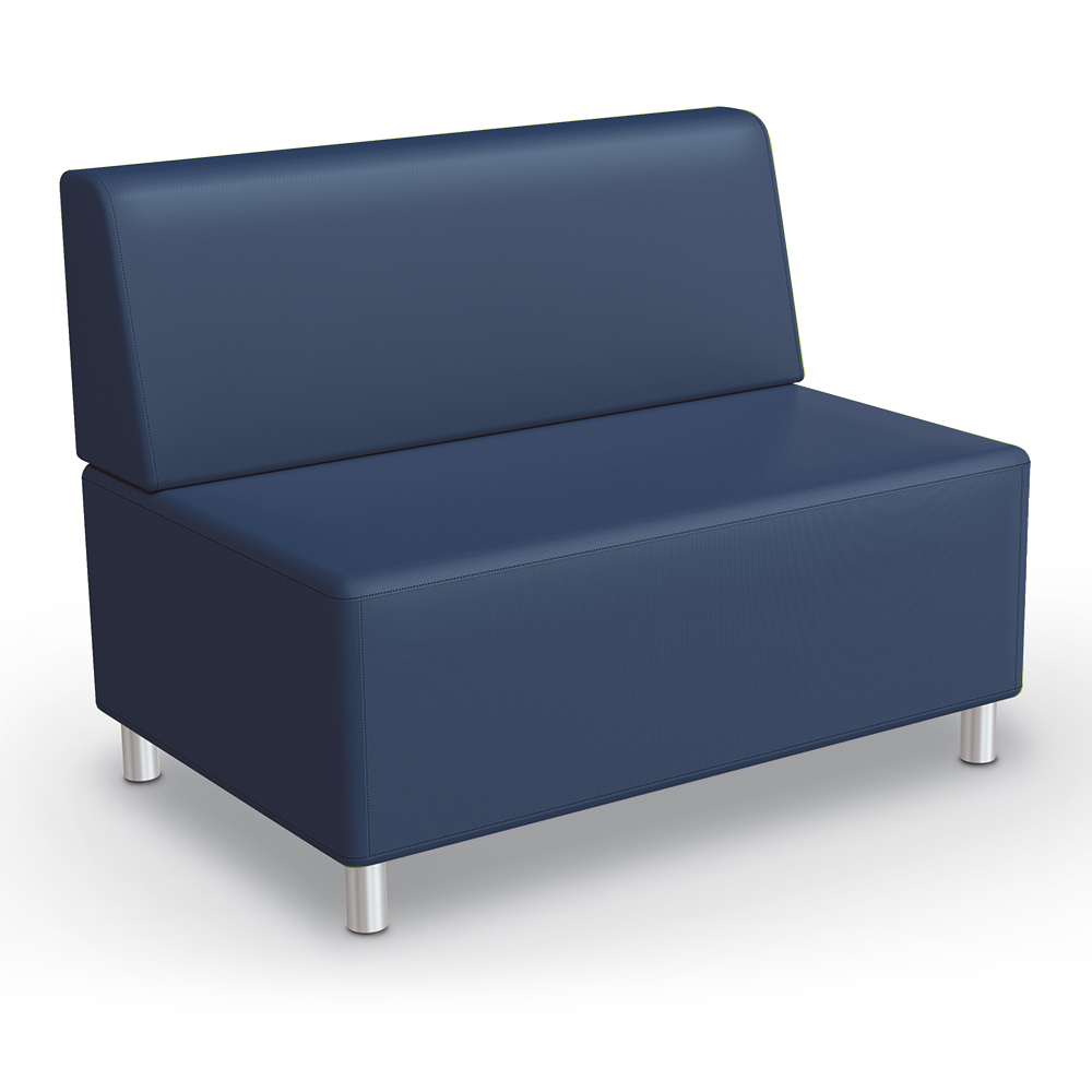 MooreCo® Modular Soft Seating Collection - Armless Loveseat, Faux Leather