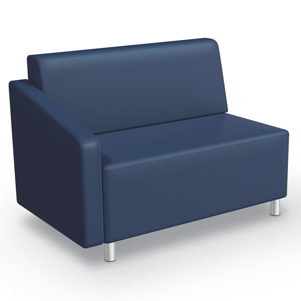 MooreCo®Modular Soft Seating Collection - Right Arm Loveseat, Faux Leather