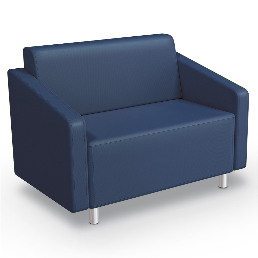 MooreCo® Modular Soft Seating Collection - Loveseat, Faux Leather
