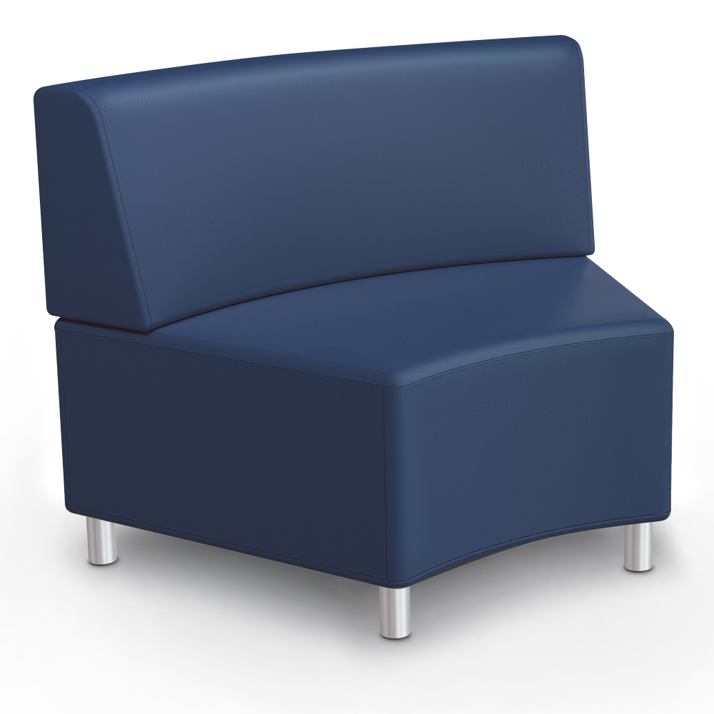 MooreCo® Modular Soft Seating Collection - 45° Wedge Inside Armless Chair