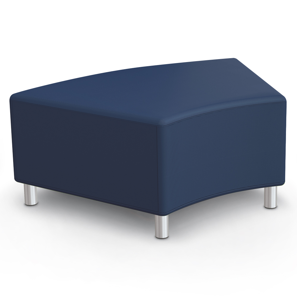 MooreCo®Modular Soft Seating Collection - 45° Wedge Bench, Faux Leather