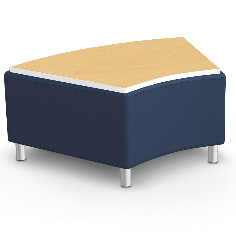 MooreCo® Modular Soft Seating Collection - 45° Wedge Bench with Laminate Top, Faux Leather
