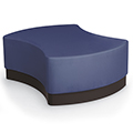 MooreCo® Configurable Soft Seating - Quad with Upholstered Seat, Faux Leather