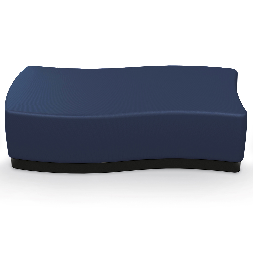 MooreCo® Configurable Soft Seating - Rectangle with Upholstered Seat, Faux Leather