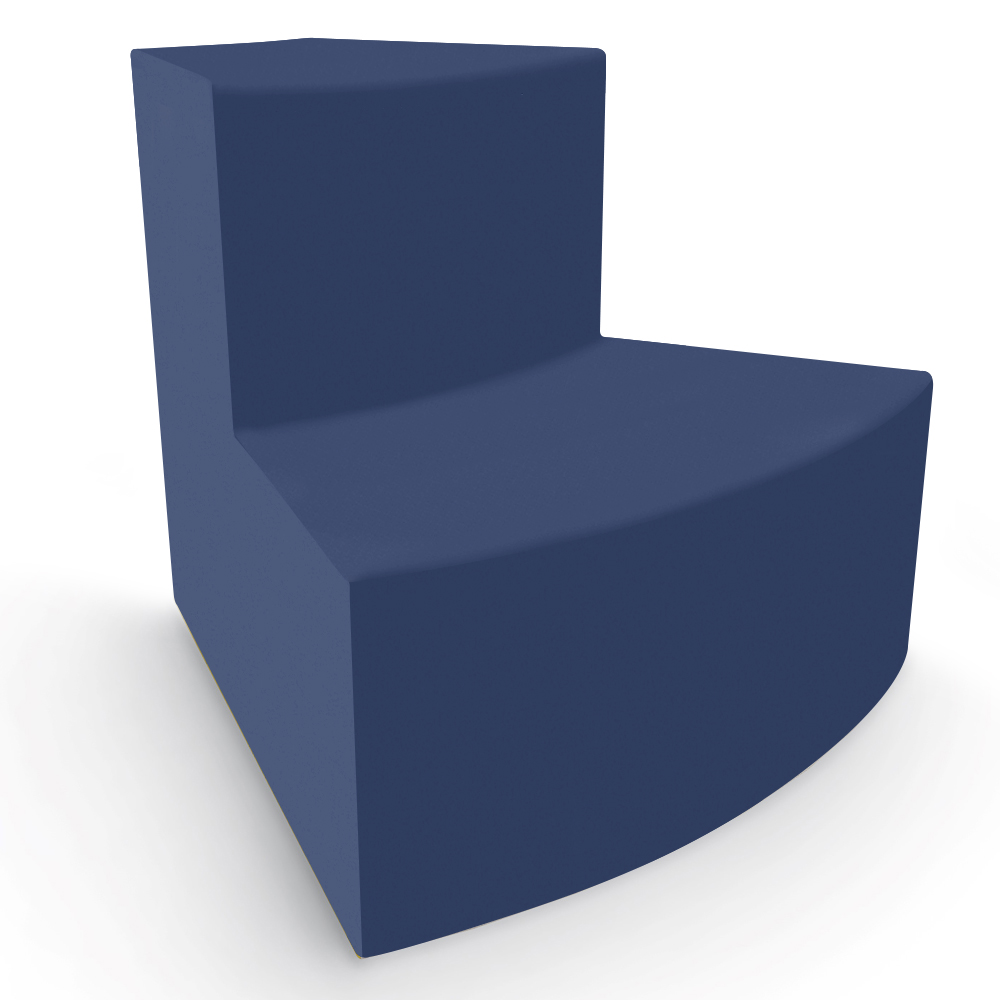 MooreCo® Elevate Steps Tieres Soft Seating - 2-Tier Outside 45° Wedge Seat, Faux Leather