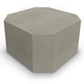 MooreCo® Elevate Wind Tiered Soft Seating - Octagonal Ottoman, Fabric