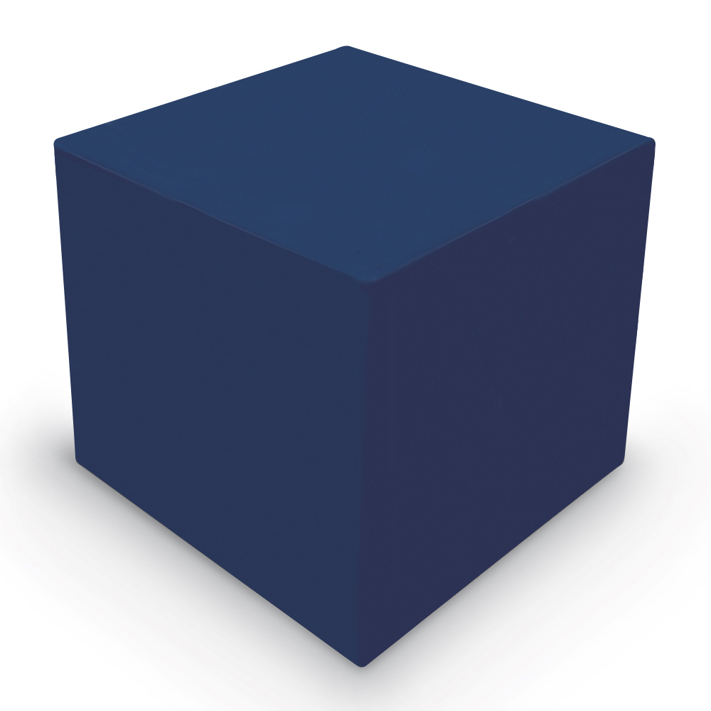 MooreCo® Elevate Wind Tiered Soft Seating - Cube Ottoman, Faux Leather