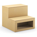HPFI® Flex Tiered Wood Seating - 2-Tier Linear Seat with Cubby