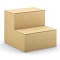 HPFI® Flex Tiered Wood Seating - 2-Tier Linear Seat