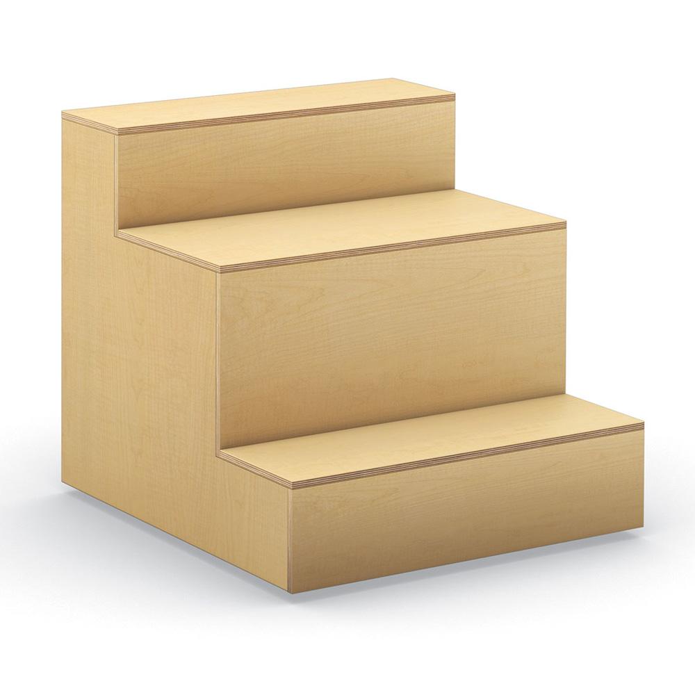 HPFI® Flex Tiered Wood Seating - 3-Tier Linear Seat