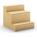 HPFI® Flex Tiered Wood Seating - 3-Tier Linear Seat