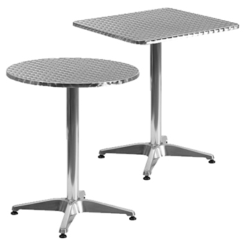 Outdoor Furniture Aluminum Standard Height Cafe Tables