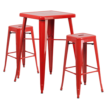 Outdoor Furniture Metal Indoor Outdoor Cafe Table Stool Set
