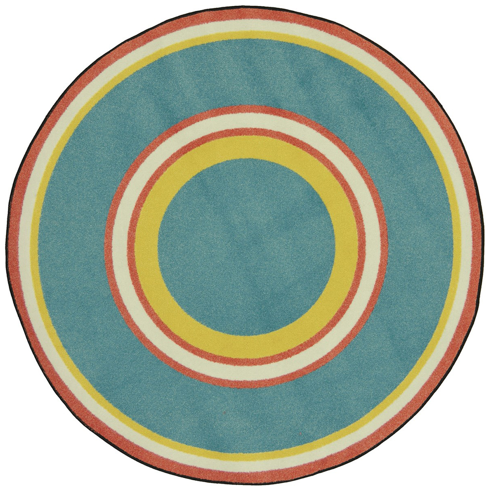 "Joy Carpets Ripples™ Teen Area Rug - 5 ft. 4"" Round"