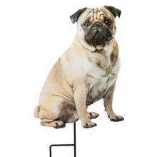 Pug Best Friend Yard Stake