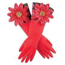 Flowery Kitchen Gloves