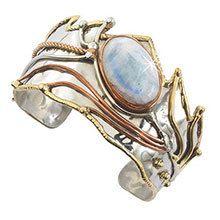 Mystical Moonstone Cuff Bracelet