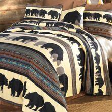 Walking Bear Fleece Pillow Sham