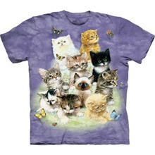 Fluffy Felines Sweet Girls Youth Tee