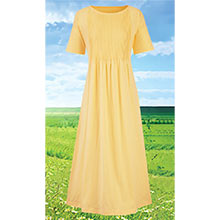 Neat Pleat Dress - Yellow