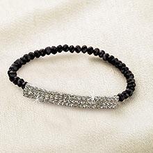 Black Shimmering Bracelet
