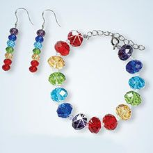 Rainbow Crystal Earrings