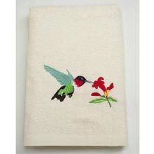Hummingbird Embroidered Hand Towel