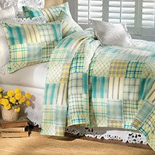 Blue Plaid Fleece Blanket & Accessories