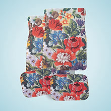 Floral Tapestry Car Mat Set