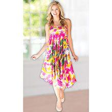 Tie-Dyed Convertible Skirt Dress