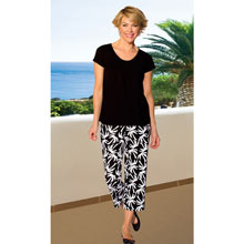 Tropical Capri Pant Set - Black