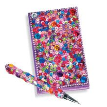 Purple Snazzy Sequined Notebook & Pen Set