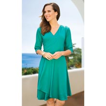 Slimming Petal Dress - Teal