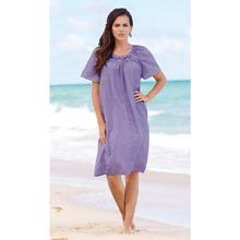 Embroidered Chambray Lounger