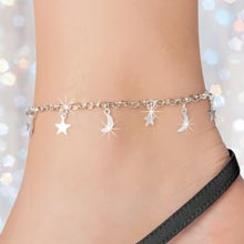 Stars & Moon Anklet