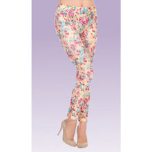 Feminine Floral Leggings