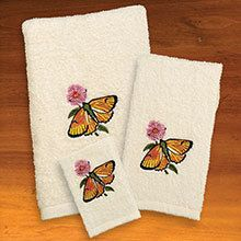 Embroidered Butterfly Bouquet - Hand Towel
