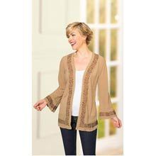 Embroidered Chiffon Cardigan