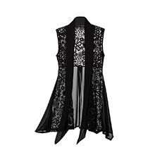 Lace & Chiffon Vest