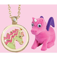 Unicorn Treasure Box With Secret Necklace