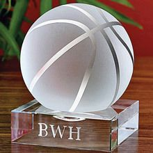 Crystal Sports Ball with Personalized Base