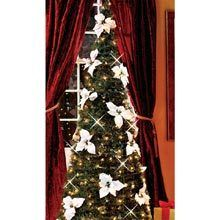 Instant Christmas Tree with White Poinsettia Blossoms