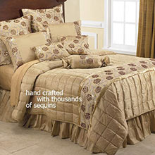 Golden Glamour Bedding